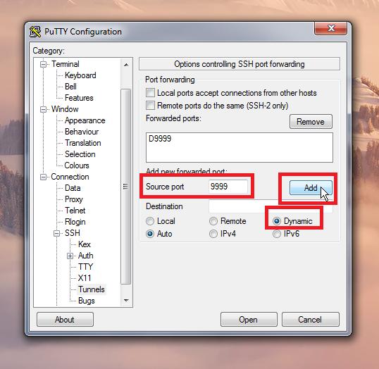 SSH Tunneling using PuTTY and Google Chrome | Michał Cichoń